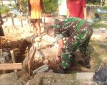 Peletakan Batu Pertama oleh Dandim 0709/Kebumen Letkol Inf. Dany Rakca A, SAP